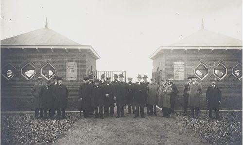 Opening begraafplaats Crezeelaan 1922